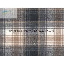 Karierten Wollstoff Mantel 65 % Wolle 35 % polyester