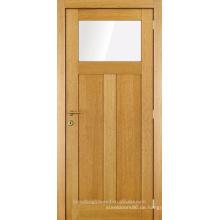 Unvollendete ein Glas zwei Panel Holz Innentür