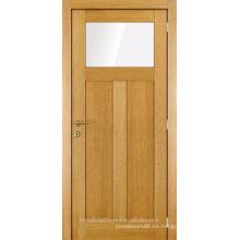 Sin terminar un vaso dos puerta de madera interior de panel