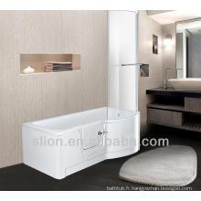 Balcons modernes en bain acrylique avec douche