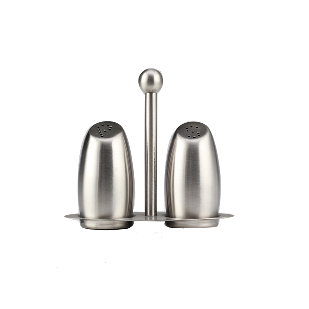 Restaurant Salt And Pepper Shakers With Matching Stand