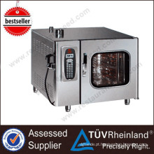 Guangzhou Stainless Steel 6-Tray / Gn1 / 1 Forno Elétrico Combi Vapor