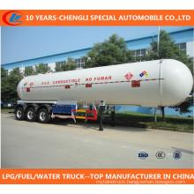 Factory Sale Asme Certificated 50cbm Tri-Axle LPG Semi-Trailer