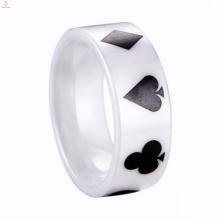 Bulk Customize China Personalized White Ceramic Ring Fine Jewelry