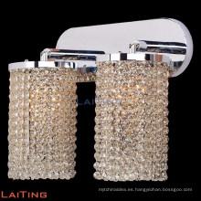 Aplique de pared lámpara de latón arañas de cristal doble lámpara de pared de cristal 32431