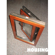 Laminated Glass Aluminum Window , Wood Cladding With Low-e Glass
