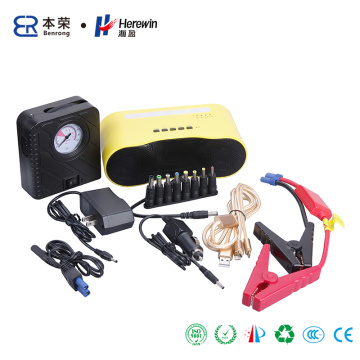 12V Car Battery Jump Starter with Bluetooth Speaker