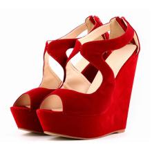 Sandálias de senhoras de salto alto multi-cores de moda nova (HS17-81)