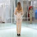 Long Sleeve Beaded Champagne Color Romper Style Korean Evening Dress