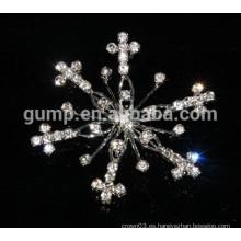 Broche de copo de nieve de diamante de imitación