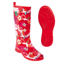 Good Quality for Rain Shoe Cover Colorful Flower Rain Rubber Boots for Ladies export to Western Sahara Wholesale