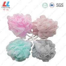 Double mesh sponge clease bath ball