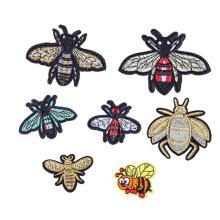 Broderie de patchs de logo d'abeilles personnalisés de meilleure qualité d'animaux
