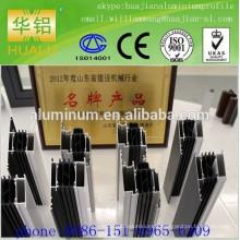 Shandong Linqu profilé en aluminium de haute qualité pour fenêtres, profil d'extrusion, profil de rupture thermique, profil anodisé
