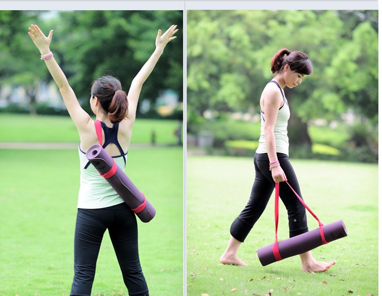 yoga mat strap application