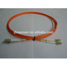 Chine fournie Multimode duplex 62,5 / 125 mm LC UPC Fibre optique Jumper / cordon de raccordement