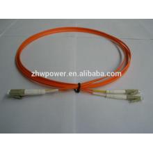China fonte Duplex multimodo 62,5 / 125 mm LC UPC Fibra óptica Jumper / patch cord