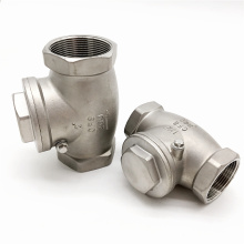 Threaded swing check valve for water