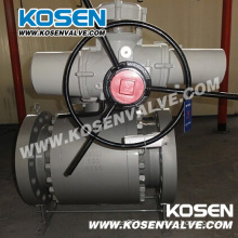 Cast Steel Trunnion Ball Valves with Electric Actuator
