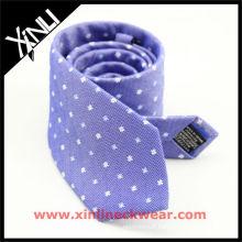 Cravates en lin blanc bleu en soie pour homme