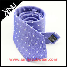 Blue White Silk Linen Man Neckties