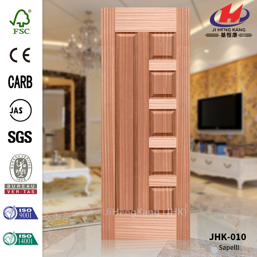 Natural Sapeli Molded Industrial Door Skin