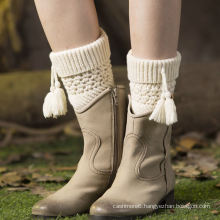 Cheap Fashion Woolen Felt Hand Knitted Leg Warmers Factory Wholesale Sales (accept custom)