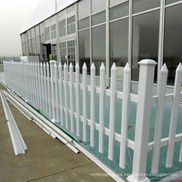 valla de aluminio horizontal cerca del patio de los niños
