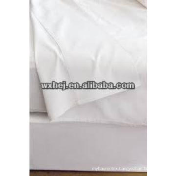 hotel white egyptian polyeseter cotton bed linen fabric