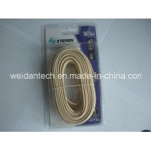 Steren Rj11 7.5 Meter Flat Telephone Cable