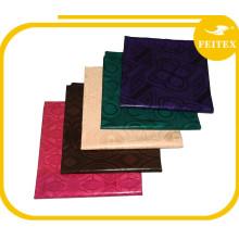 Nigeria diseño de alta calidad hecho a mano bazin riche algodón Guinea Brocade tela de compras en línea