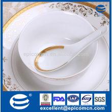 Nova porcelana china de ouro 5,5 '' tigela pequena com colher
