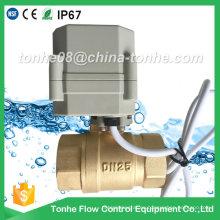 Dn25 2 vías 1 pulgada de latón Cr2 01 DC12 / 24V eléctrica bola motorizada válvula de control