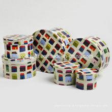 Design rodada em forma de papel de impressão Dom caixa de armazenamento para brinquedos
