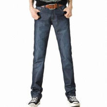 Casual Five-pocket Mid-rise Straight Leg Jeans for Men