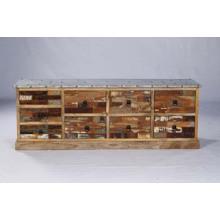 Canapé de salle à manger côté lit en bois industriel