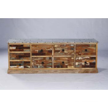 Industrial Wooden Bed Side Dining Sideboard