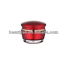 Cosmetic Packing Red Acrylic Cream Jar