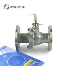 JKTLFB021 cf8m 1000wog 2 piezas 90 grados de hierro fundido caldera válvula de bola