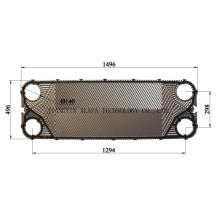 Placa para intercambiador de calor de agua a refrigerante (igual a M15M)