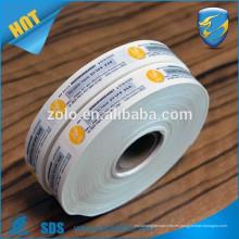 Etiquetas de vinilo ultra hologramas frágiles, etiqueta de sellos de seguridad de carga, cáscara de huevo Destructible de papel Garantía Etiqueta de seguridad