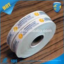 Étiquettes de vinyle ultra-hologrames cassables, étiquette d'étanchéité de sécurité de fret, papier noix d'élimination destructible Garantie Sécurité Autocollant