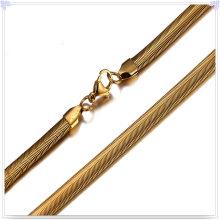 Jóias acessórios de aço inoxidável cadeia de moda colar (sh027)