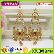 Wholesale Plastic Crystal Gold Plated Handmade Earrings