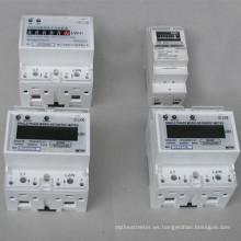Medidor de vatios-hora con riel DIN estándar de 35 mm con salida de pulso