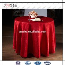 100% Polyester Jacquard Tischwäsche 120 Zoll runde Tischdecke für Hochzeit verwendet
