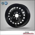 Estándar venta caliente negro ruedas de coches acero ruedas de coches borde