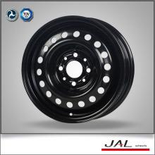 Standard venda quente preto rodas de carro aço rodas de carro borda
