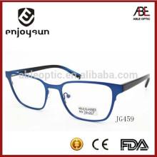 Lunettes de conception unisexe lunettes optiques en métal à la mode