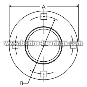 Hot Sale for Stamped Housing Flange 4-Bolt Hole Round Self-Aligning Mounting Flanges supply to Mexico Manufacturers